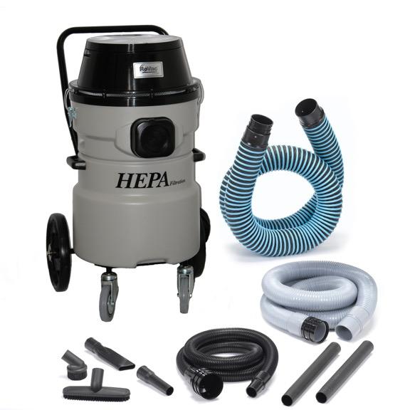 ROVAC® 3 Motor Fixed Trolley HEPA Vacuum