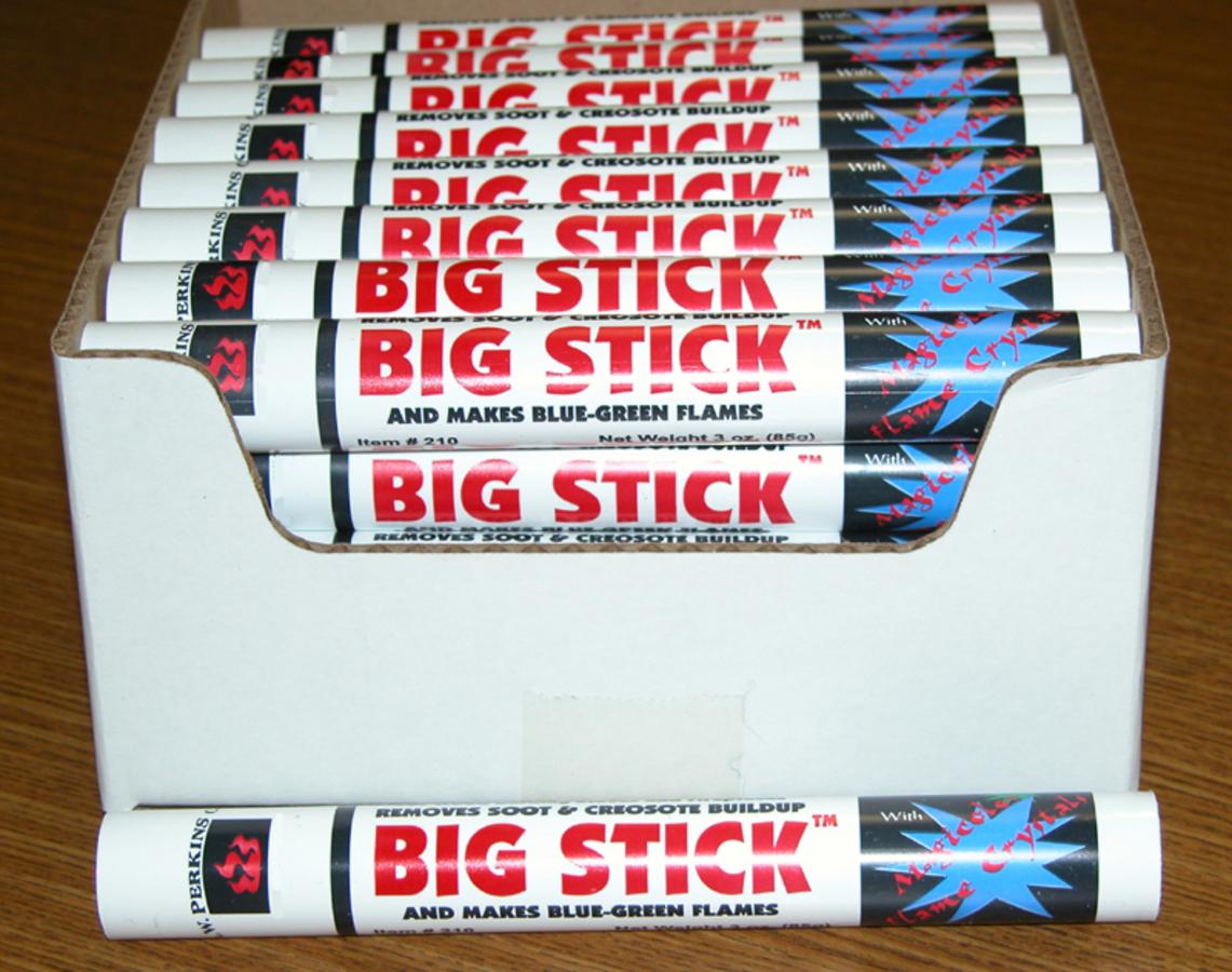 BIG stick soot and creosote remover 2/ magicolor crytals- 3 oz. stick