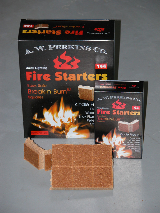 Break N' Burn Fire Starter Squares-24 squares