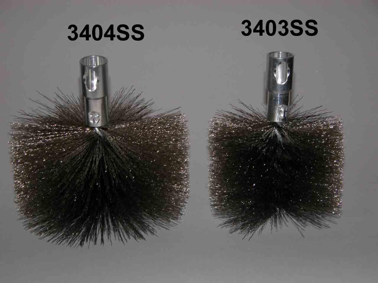 Stainless Steel Bristle Pellet/Dryer Vent Brush, 4