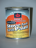 1400 degree fahrenheit Stove Paint-Spray Black, No HAPS, rust-inhibiting formula, low VOC- pint